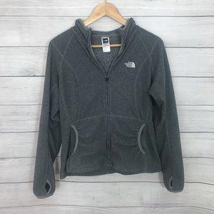 The North Face Gray Zip-up Sweatshirt